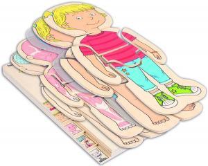 Puzzle in legno corpo umano - Bambina