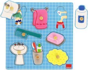 Puzzle in legno - Il bagno