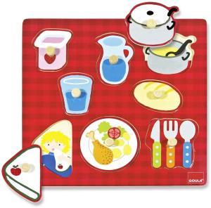Puzzle in legno - pranzo goula 53033