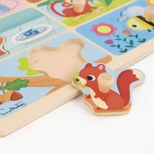 Puzzle in legno - il cibo degli animali