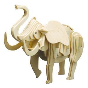 Puzzle 3D in legno Elefante