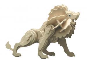 Puzzle 3D in legno Leone