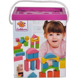 Secchiello con cubi 75 p. - colori pastello