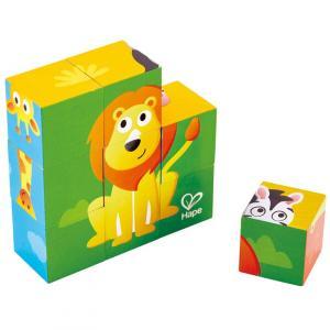 9 cubi in legno Zoo