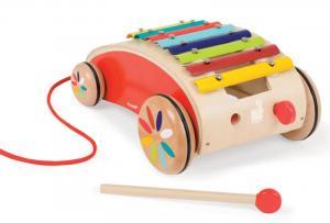 Xilofono in legno con ruote