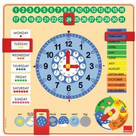 Orologio e calendario in legno Goula (inglese)