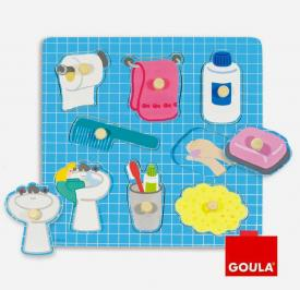 Puzzle in legno - Il bagno goula 53032