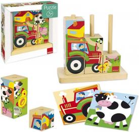 Puzzle cubi fattoria Goula