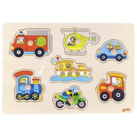 Puzzle in legno - Mezzi di trasporto