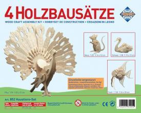 Puzzle 3D in legno Set animali II