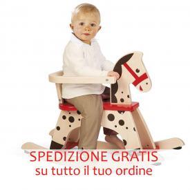 Cavallo a dondolo con bambino janod