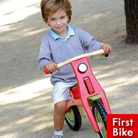 Bicicletta senza pedali in legno