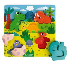 Puzzle ii legno dinosauri janod